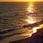 Navarre Sunset Surf Poster