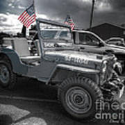 Navy Jeep Poster