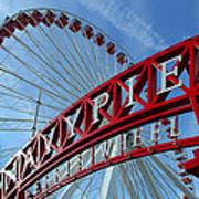 Navy Pier Ferris Wheel Poster by James Hammen