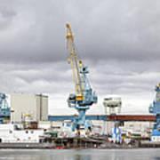 Navy Yard Cranes Poster