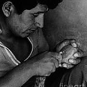 Nazca Stone Cutter Poster