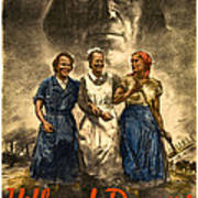 Nazi War Propaganda Poster Poster