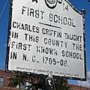 Nc-a14 First School Poster
