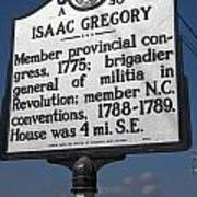 Nc-a30 Isaac Gregory Poster