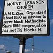 Nc-a43 Mount Lebanon Church Poster