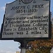 Nc-a61 Joseph C. Price 1854-1893 Poster