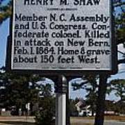 Nc-a62 Henry M. Shaw Poster