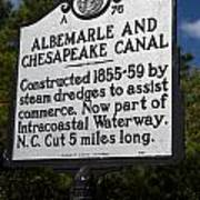 Nc-a76 Albemarle And Chesapeake Canal Poster