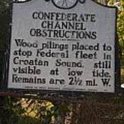 Nc-bbb3 Confederate Channel Obstructions Poster