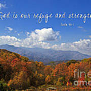 Nc Mountains With Scripture Poster