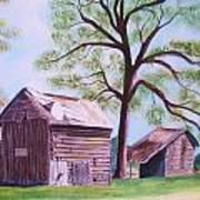 Nc Tobacco Barns Poster
