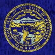 Nebraska Flag Poster by World Art Prints And Designs