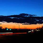 Nebraska Highway Sunset Poster
