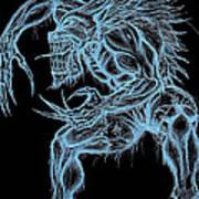 Negative Werewolf Poster by Michael Mestas