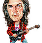 Neil Young Poster by Art