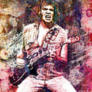 Neil Young Original Painting Print Poster