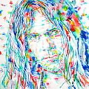 Neil Young - Watercolor Portrait Poster