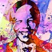 Nelson Mandela Watercolor Poster