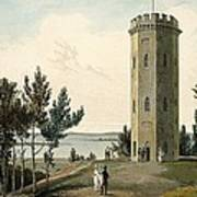 Nelsons Tower, Forres, From A Voyage Poster