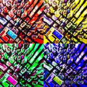 Neo Pop Art Urbanscape New York Sky View Poster