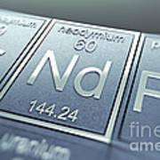 Neodymium Chemical Element Poster