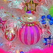 Neon Holiday Tree Poster