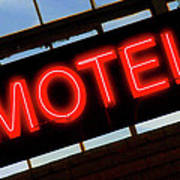 Neon Motel Sign Poster