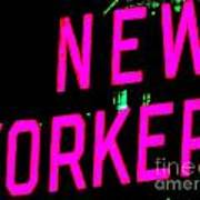 Neon New Yorker Poster