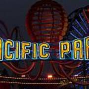Neon Sign At Pacific Park At Santa Monica Poster
