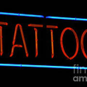 Neon Tattoo Sign Poster