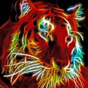 Neon Tiger Poster