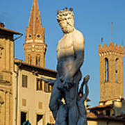 Neptune Statue - Florence Poster