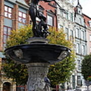 Neptune's Fountain - Gdansk Poster