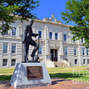 Ness County Courthouse In Kansas Poster