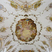 Nesselwang Church Ceiling And Organ Poster