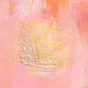 Nest- Pink And Gold Abstract Art Poster