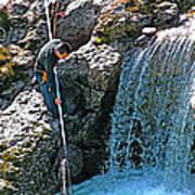 Net Fishing In Bulkley River In Moricetown-british Columbia-canada Poster