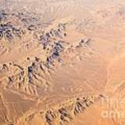 Nevada Mountains Aerial View Poster