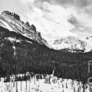 Never Summer Wilderness Area Panorama Bw Poster