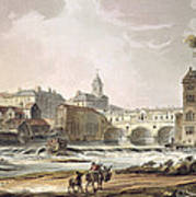 New Bridge, From Bath Illustrated Poster