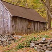 New England Barn Poster