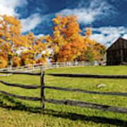 New England Farm With Autumn Sugar Poster