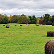 New England Hay Bales Poster