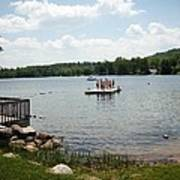 New England Lake Vacation Poster