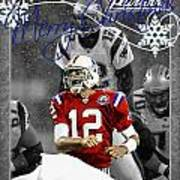 New England Patriots Christmas Card Poster