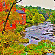 New England Stream In Fall Poster