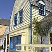 New England Style Building At Fisherman's Village Marina Del Rey Los Angeles Poster