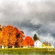 New England Village Poster