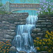 New England Waterfall Poster