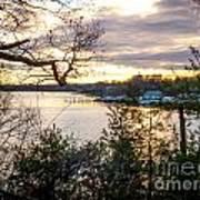 New England Winter Sunset Poster